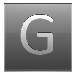Letter G grey icon
