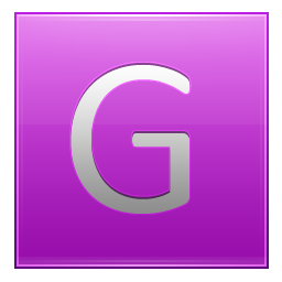 Letter G pink icon