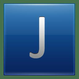 Letter J blue icon