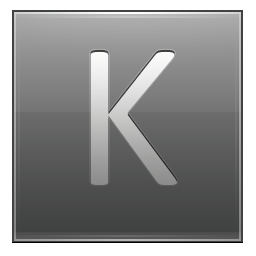 Letter K grey icon