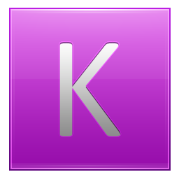 Letter K pink icon