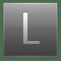 Letter L grey icon