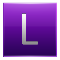 Letter L violet icon