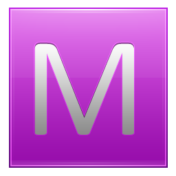 Letter M pink icon