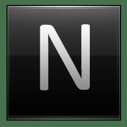 Letter N black Icon | Multipurpose Alphabet Iconset ...