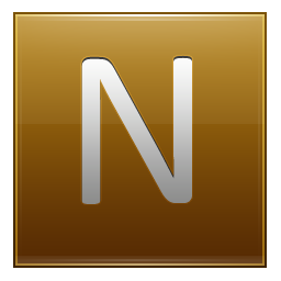 Letter N gold icon