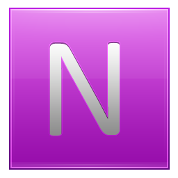 Letter N pink icon