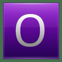 Letter O violet icon
