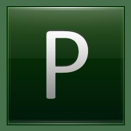 Letter P dg icon