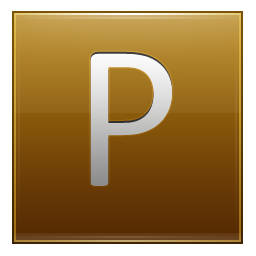 Letter P gold icon