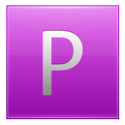 Letter P pink icon