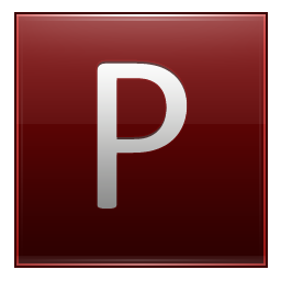 Letter P red icon