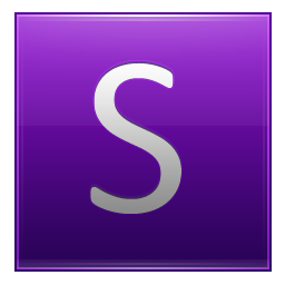 Letter S violet icon