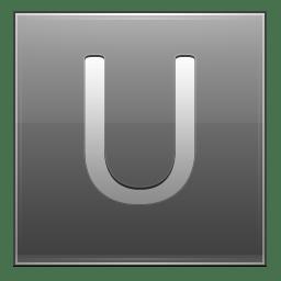 Letter U grey icon