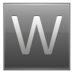 Letter W grey icon