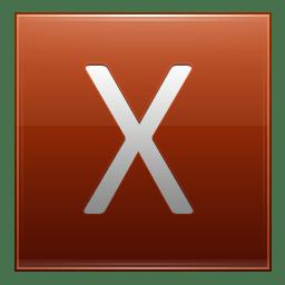 Letter X orange icon