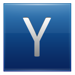Letter Y blue icon