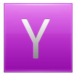 Letter Y pink icon