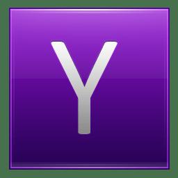 Letter Y violet icon