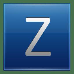 Letter Z blue icon