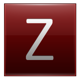 Letter Z red icon