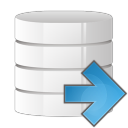 Database arrow right icon