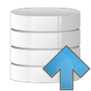 Database arrow up icon