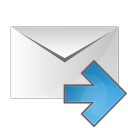 Mail arrow right icon