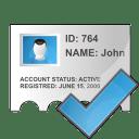 Profile check icon