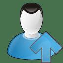 User arrow up icon