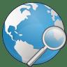 Globe-search icon