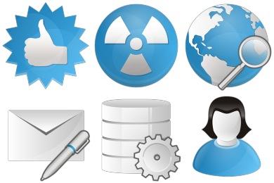 Blue Bits Icons