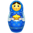 Blue-matreshka icon