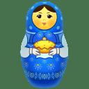 Blue matreshka icon