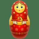 Red-matreshka icon