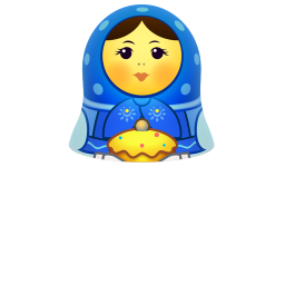 Blue matreshka upper part icon