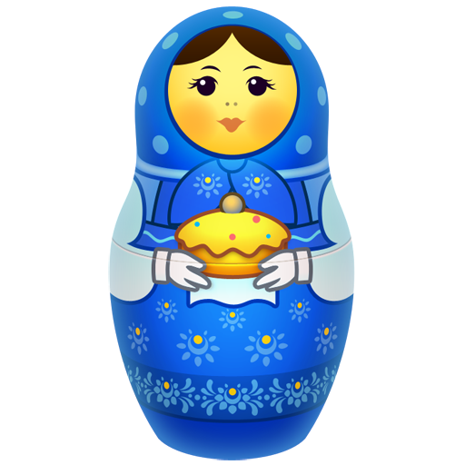 Blue matreshka icon
