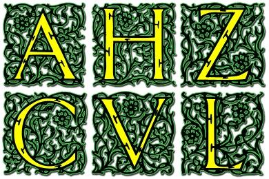Arabesque Alphabet Icons
