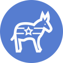 Election Donkey Outline icon