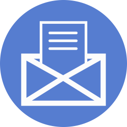 Election Letter Outline Icon | Circle Blue Election Iconset | Icon ...