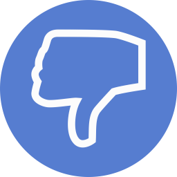 Election Thumbs Down Outline icon