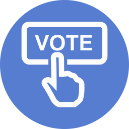 Election Vote 2 Icon Circle Blue Election Iconset Icon Archive