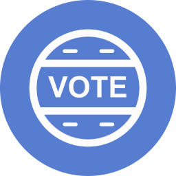 Election Vote Outline Icon Circle Blue Election Iconset Icon Archive