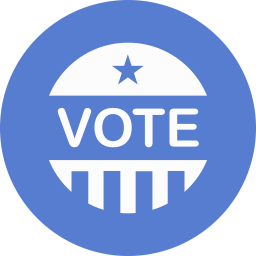 Election Vote Icon Circle Blue Election Iconset Icon Archive