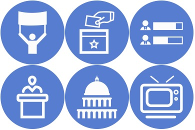 Circle Blue Election Icons