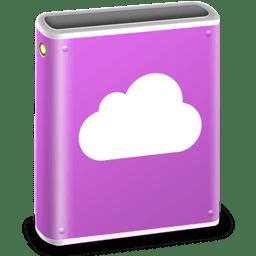 iDisk Pink MobileMe icon