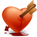 Heart arrow icon