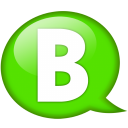 Speech balloon green b icon