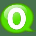 Speech-balloon-green-o icon