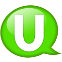 Speech balloon green u icon